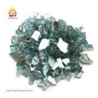 China Crystal Reflective Tempered Fire Pit Glass Chips For Outdoor Antique Fire Pit Decoration on sale