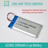 Buy cheap medical 623463 1500mAh from wholesalers