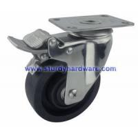 China Stainless Steel Casters High-Temperature Glass Filled Nylon Wheel Total Lock wholesale