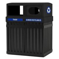 China ArchTec Parkview Double Trash/Recycling Receptacle wholesale