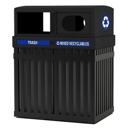 Quality ArchTec Parkview Double Trash/Recycling Receptacle for sale