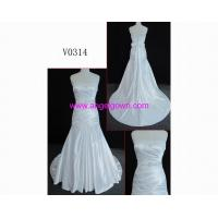 China V0314 luxury barcelona Guangdong latest fashion hot sell short sleeve wedding dress wholesale