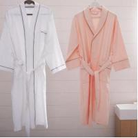 China Hotel White Bathrobe Cotton Towel Bathrobe on sale