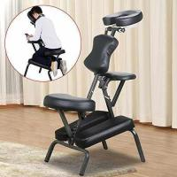 Yaheetech Folding Portable PU Massage Chair with Carrying Case