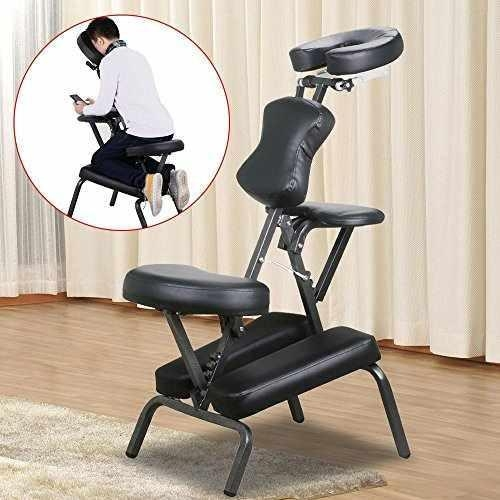 Quality Yaheetech Folding Portable PU Massage Chair with Carrying Case for sale