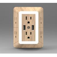 Buy cheap 6 outlets with dual USB wall plate from wholesalers