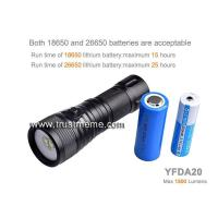 Buy cheap YFDA20 Underwater 200m 1500 lumens Photography Diving Video Flashlight from wholesalers