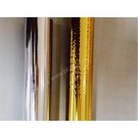 Alchemy gold foil material  gold and silver hot film over plastic