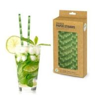 Party supplies bamboo design paper drinking straws