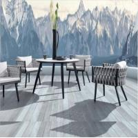 Buy cheap Luxury Garden patio New Design Aluminium dining table and chair woven rope outdoor furniture from wholesalers