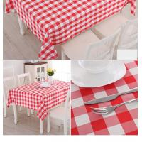 """Tablecloth Rectangular Checkered 60x126"""" Polyeste Variety of Colors"""