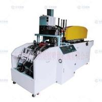 Automatic gluing and corner sticking machine for stair carpet