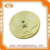 China Custom high quality zinc alloy metal shiny gold plated souvenir coin wholesale
