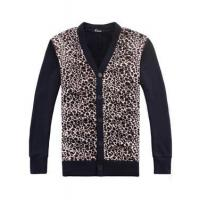 China Cheetah Print Fleeces Cardigan Sweater for Men wholesale
