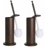 Intuition Bronze Toilet Brush and Holder, 2 Pack