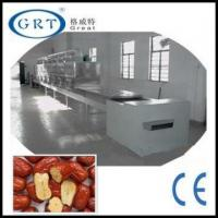 Continuous processing industrial microwave tunnel dryer for dates