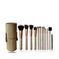 12 PCS Golden Travel Brush Set
