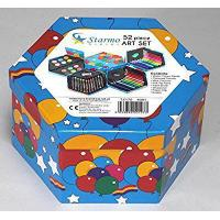 China Starmo Childrens 52 Pcs Craft Art Artists Set Hexagonal Box Crayons Paints Pens Pencils by Starmo wholesale