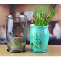 China Wholesale Tall Hand Painted Glass Flower Vases And Glass Hurricane Holders wholesale