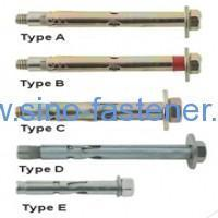 China Fasteners Sleeve Anchor With Hex Bolt wholesale