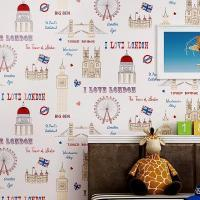 China New Eco-friendly Children's Room Wallpaper In The Mediterranean Wallpaper on sale