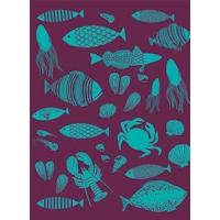 Buy cheap Office-Travel French Artists Club - Kitchen Woven Towel- Fishing from wholesalers