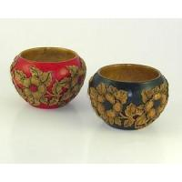 Buy cheap Bed & Bath Hand Carved Bowls with Flowering Dogwood Design from wholesalers