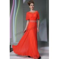 China Orange short Sleeves Prom Dresses with Flowers and Tassel S949 on sale