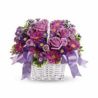 China Daydreams Purple Rose Basket wholesale