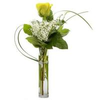 Quality Single Yellow Rose Bouquet for sale