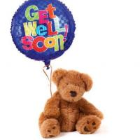 Buy cheap Get Well Balloon And Teddy Bear from wholesalers