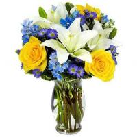 Quality Blue Hues Flower Bouquet for sale