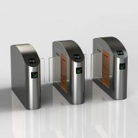 China New Style Stainless Steel Sliding Glasslane Turnstile with Card Reader Fingerprint Touch ID Reader wholesale