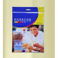 China 210g high glossy photo paper (poly bag with hanger) wholesale