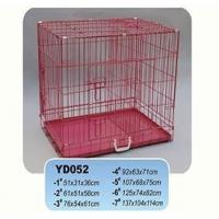 China Dog Cages Name:YD052 red powdercoat wire metal dog crate dog kennels wholesale