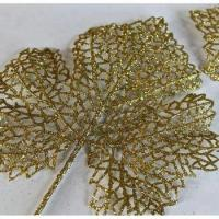 Wholesale Plastic Gold Artificial Christmas Leaf