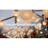 White Collection Round / Unique Shaped Paper Lanterns , SGS CE Approved