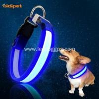 China LED Dog Collar Best Rechargeable Led Lights Dog Collar wholesale