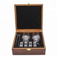 Granite Whiskey Stones Gift Set in wood box