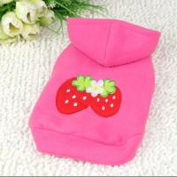 China Strawberry Pattern Dog Hoodie wholesale