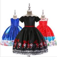 China Child Baby Dress Model Baby Winter Christmas Formal Party Wear Lovely Printed Girl Fashion wholesale