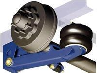 China 16,000 lbs. Tandem Electric Brake Axles with Air Ride Suspension wholesale