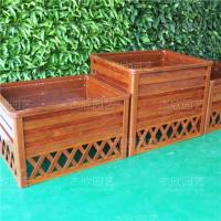 Buy cheap Woodgrain Large Planter On Ground from wholesalers