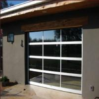 China USA Standard Glass Garage Door Full View Tempered Glass Garage Door With Insulated Aluminum Frames wholesale