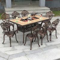China Outdoor Dining Cast Aluminium Fire Pit Table wholesale