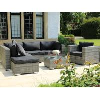 China Modern Outdoor Garden Lifestyle Patio PE Rattan Furniture Gas Fire Pit Table wholesale