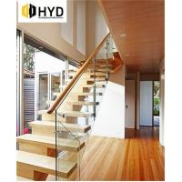 China HYD-SS017Arc curved stainless steel round staircase with glass stair wholesale