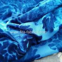Buy cheap 100% polyester burn out velvet fabric from wholesalers