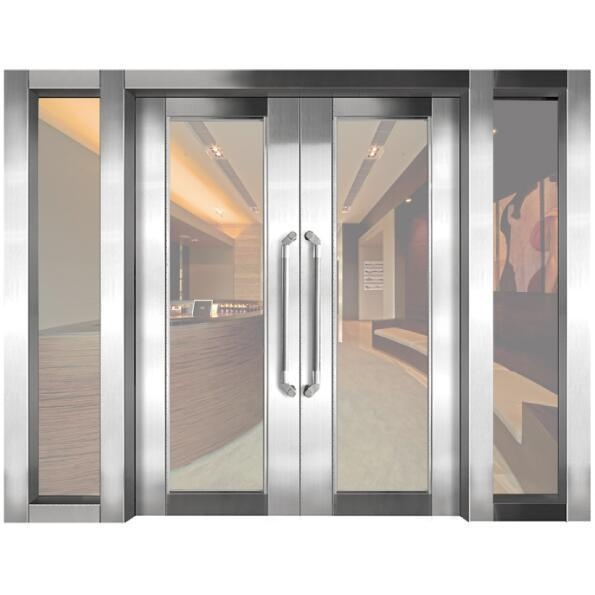 Quality Steel frame fire resistant glass door for sale
