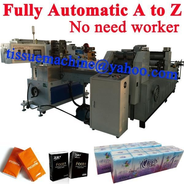Quality No Need Worker A to Z Pocket Tissue Fully Automatic Handkerchief Machine Production Line for sale